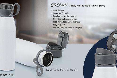 CROWN - SINGLE WALL S.S. BOTTLE (750 ML) GM-416
