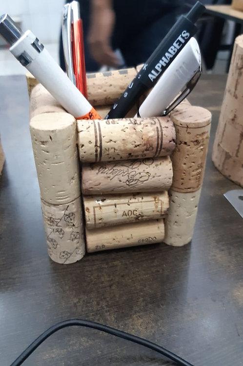 Cork Used Wine Cork Pen Holder.