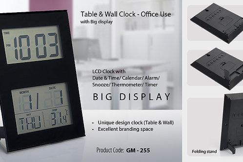 WALL CUM TABLE CLOCK GM-255