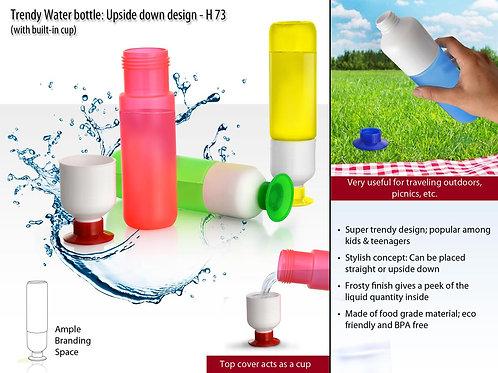 Trendy Water bottle (Upside down design) H-73