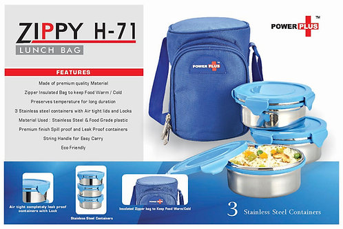 Zippy Lunch bag- 3 containers (metal) H-71