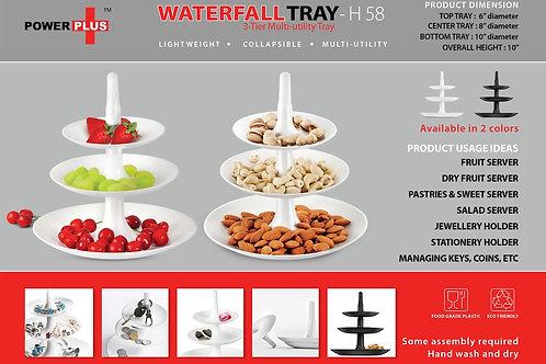 Power plus Waterfall tray: 3 pc multiutility folding tray H-58