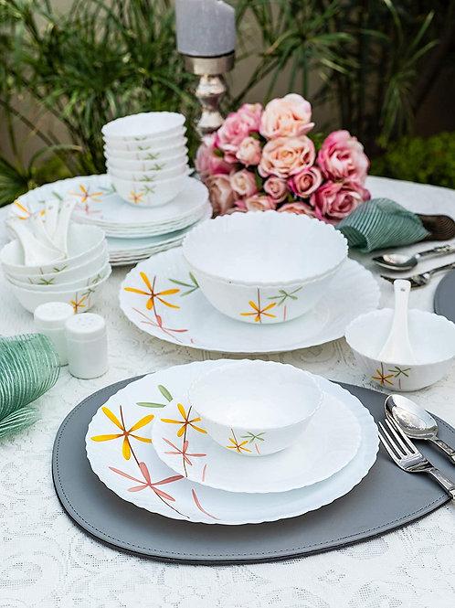 La Opala Autumn Flower Novo Collection Opalware Dinner Set CI-LO-04