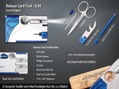 Deluxe Card Tool Kit- Card Shape G-05