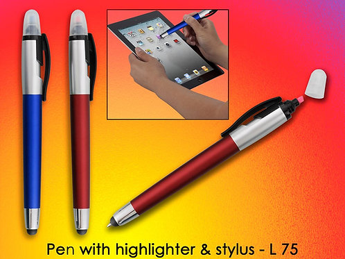 Pen with highlighter & stylus L-75