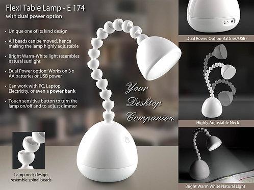 Flexi desk lamp (with dual power option) E-174