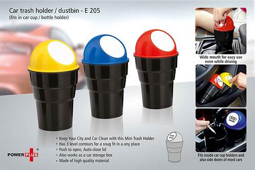 Car trash holder / dustbin (fits in car cup / bottle holder) E-205