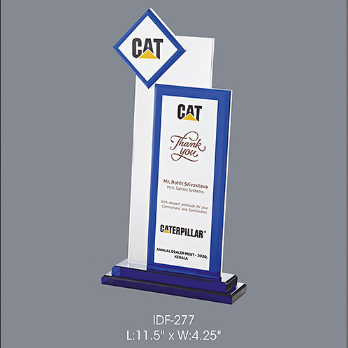 Acrylic Trophy  IDF-277
