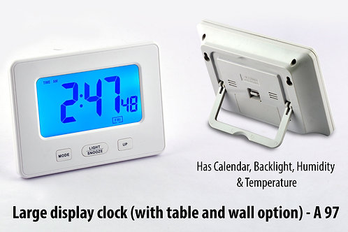 Large display clock (with table and wall option A-97