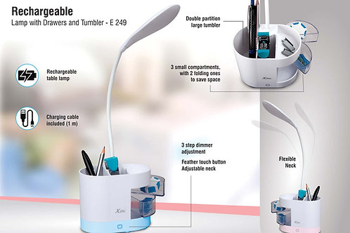 Rechargeable lamp with drawers and Tumbler E-249