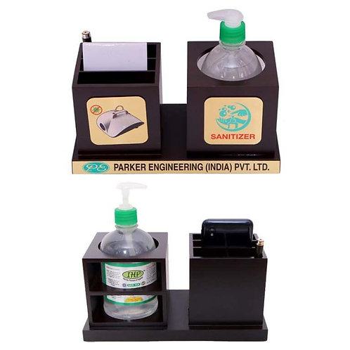 Herbal Sanitizer 500ml With Pen Stand & Paper Pad MP-11