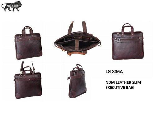 BAGS NDM Leather Slim Executive Bag CI-LG-806A