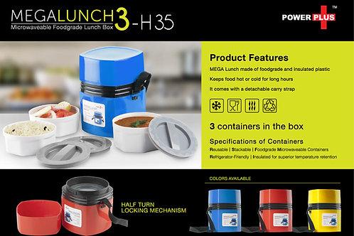 Power Plus Mega Lunch Box (Microwaveable)- 3 Box H-35