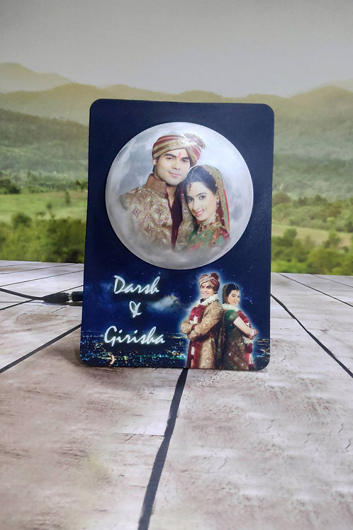 Personalized  3D Embossed LED Moon photo Frame CI-11