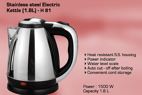 Stainless Steel Electric kettle (1.8L) H-81