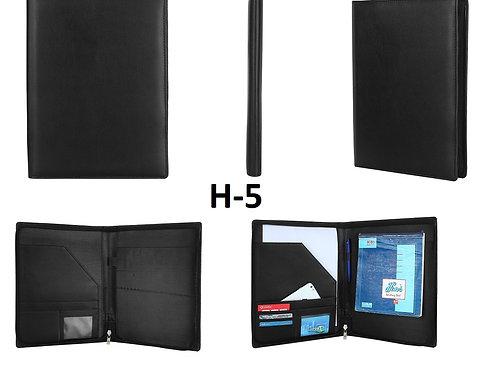 Conference Folder-Zipper-Black H-05