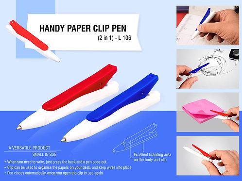 Handy Paper clip pen (2 in 1) L-106