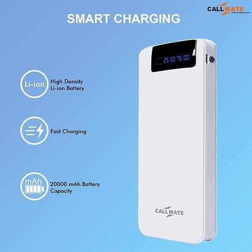 Call Mate RCM6 20000mAh Li-ion 3 USB Port Power Bank CI-CM-12