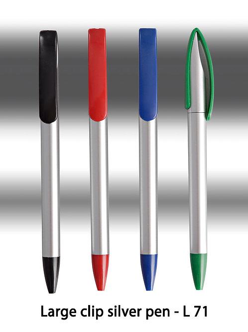 Large clip silver pen L-71