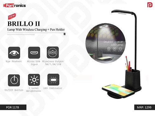 BRILLO II Lamp With Wireless Charging + Pen Holder POR-1178