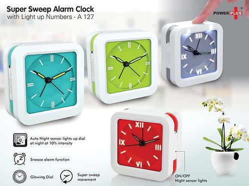 Super Sweep alarm clock with Light up numbers A-127