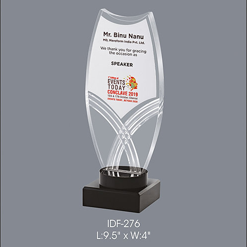 Acrylic Trophy  IDF-276