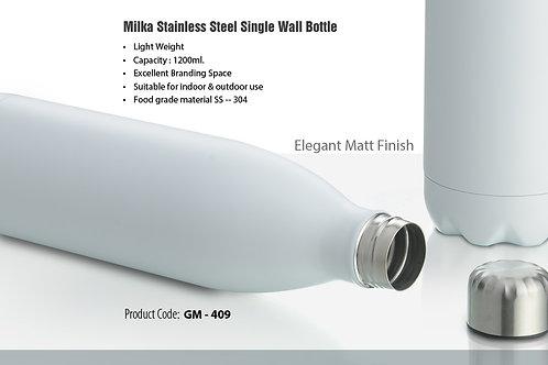 MILKA SINGLE WALL STEEL BOTTLE (1200 ML) GM-409