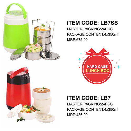 Jumbo Lunch Box with 4 Plastic Container CI-JMD-80