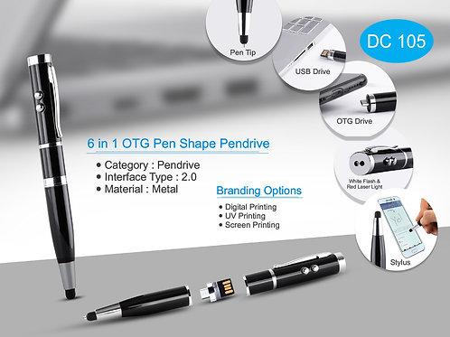 6 in 1 OTG Pen Shape Pen drive DC-105