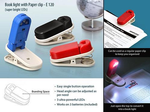 Book light with Paper clip E-120