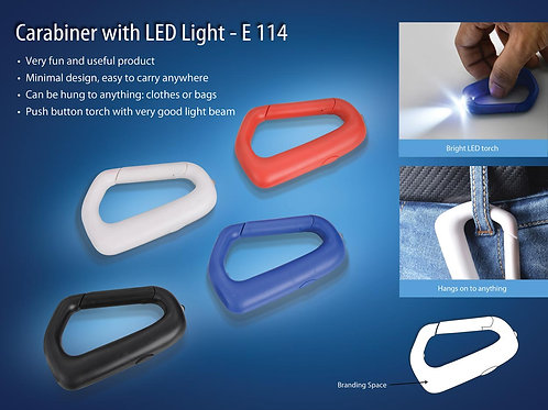 Carabiner with LED light (with battery) E-114