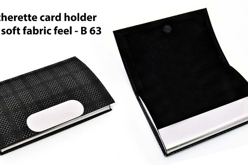 Leatherette Card holder with soft fabric feel B-63