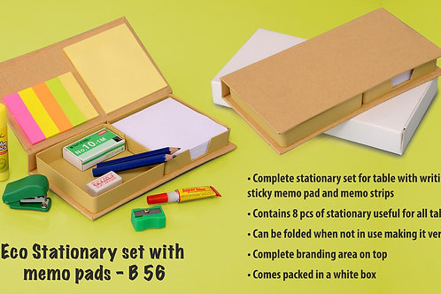 Eco Stationary set with memo pads B-56