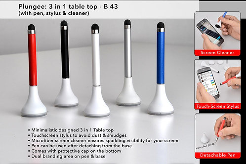 Plungee: 3 in 1 table top (Pen with stylus and cleaner) B-43