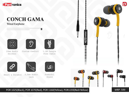 CONCH GAMA Wired Earphone POR-1160
