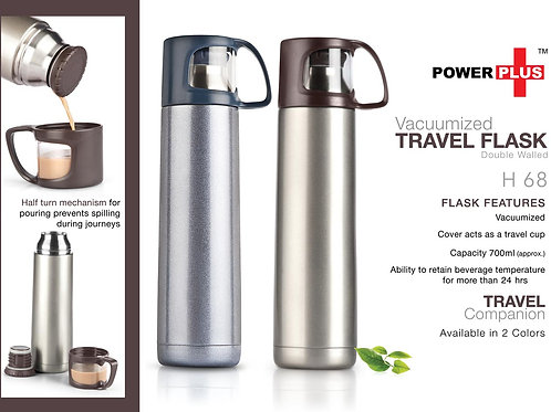 Vacuumized Travel flask (700 ml approx) H-68