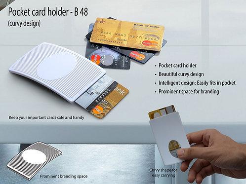 Pocket card holder (curvy design) (for credit cards) B-48