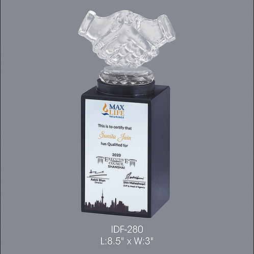 Acrylic Trophy  IDF-280