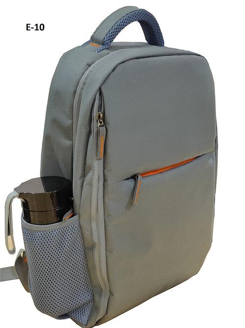 Grey Backpack With Side Pocket E-10
