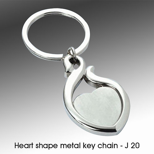 Heart shape metal key chain J-20