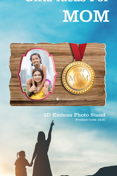 Personalised 3D Emboss Photo Stand CI- 118