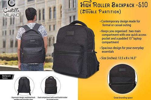 High Roller backpack | Double partition by Castillo Milano S-10