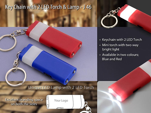 Keychain with 2 LED torch and lamp J-46