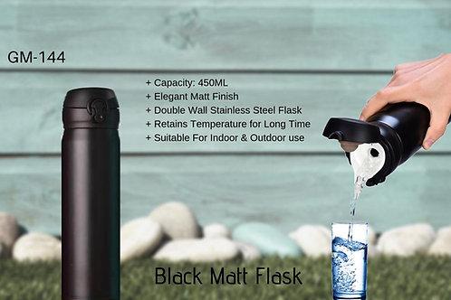 MATT FINISH FLASK BLACK (450 ML) GM-144