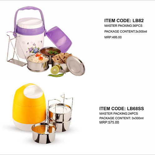 Marvel Lunch Box With 3 SS Container CI-JMD-74