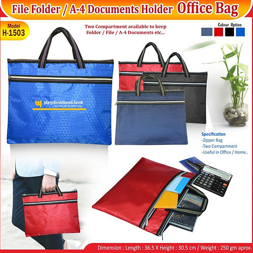 File Folder A-4 Document Holder CI-H-1503