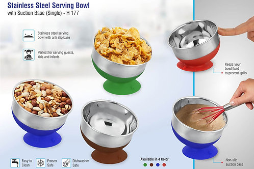 Stainless steel Serving bowl with suction base H-177