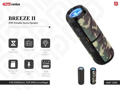 BREEZE II 20W Portable Stereo Speaker POR-699