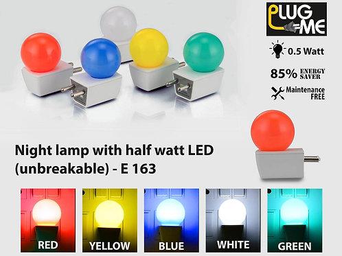 Plug me: Night lamp with half watt LED (unbreakable) E-163
