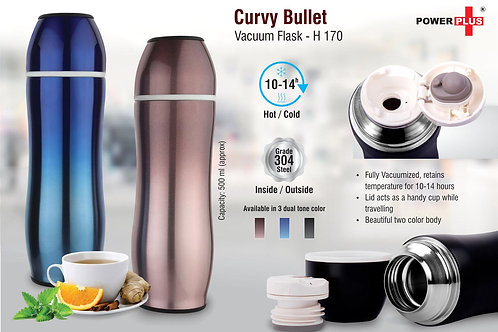 Curvy Bullet Vacuum flask (500 ml approx) H-170
